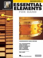 Essential elements for band : a comprehensive band method. Percussion. Book 1