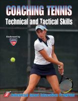 Coaching Tennis Technical and Tactical Skills