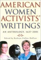 American Women Activists' Writings