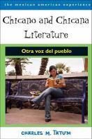 Chicano and Chicana Literature: Otra Voz del Pueblo