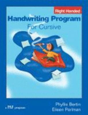 Handwriting program for cursive : right handed