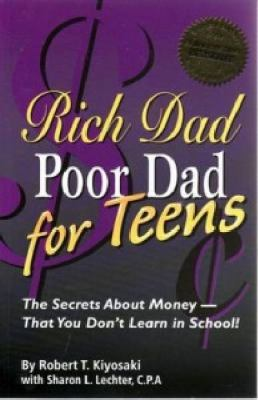 Book cover for Rich dad, poor dad for teens