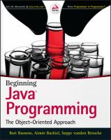 Beginning Java programming : the object-oriented approach