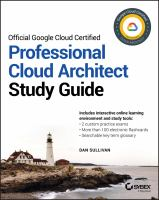 Official Google Professional Cloud Architect : study guide
