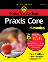 Praxis Core for Dummies With Online Practice