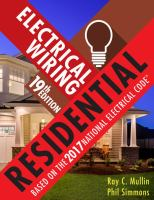 Electrical wiring residential : based on the 2017 National Electrical Code