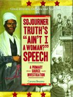 """Sojourner Truth's """"Ain't I a Woman?"""" Speech"""