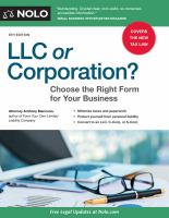 LLC or corporation : choose the right form for your business