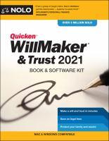Quicken WillMaker & Trust 2021 : book & software kit