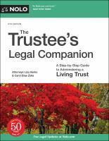 The Trustee's Legal Companion