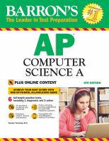 Barron's AP computer science A