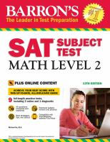 Barron's SAT subject test. Math level 2