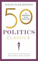 50 politics classics : your shortcut to the most important ideas on freedom, equality, and power