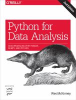 Python for data analysis : data wrangling with Pandas, NumPy, and IPython