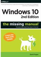 Windows 10 : the missing manual