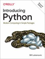 Introducing Python : modern computing in simple packages