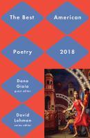 The best American poetry, 2018