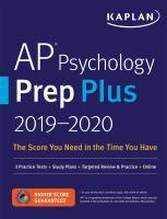 AP psychology prep plus, 2019-2020.