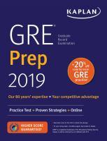 GRE prep 2019. by