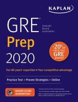 GRE Prep 2020. Practice Tests + Proven Strategies + Online