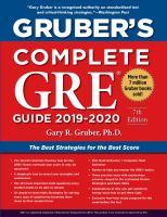 Gruber's complete GRE guide 2019-2020