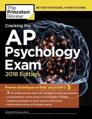 Cracking the AP.   Psychology exam 2018