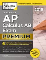 Cracking the AP calculus AB exam. Premium
