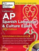 Cracking the AP Spanish language & culture exam 2019