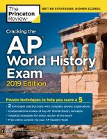 Cracking the AP world history exam premium 2019