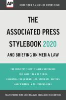 The Associated Press stylebook 2020-2022