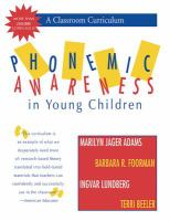 Phonemic Awareness in Young Children