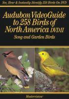 Audubon Videoguide to 258 Birds of North America. DVDII