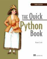 The quick Python book