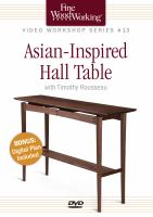 Asian-inspired hall table