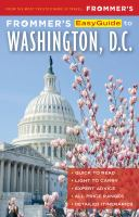 Frommer's Easyguide to Washington, D.c.