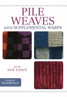 Pile weaves with supplemental warps