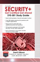 CompTIA Security+ get certified get ahead SY0-501 study guide