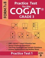 Practice test for the CogAT grade 3, level 9 : by