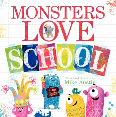 "Book Cover - Monsters love school"" title=""View this item in the library catalogue"