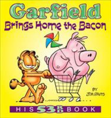 Book cover for  Garfield brings home the bacon