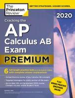 Cracking the AP calculus AB exam. Premium