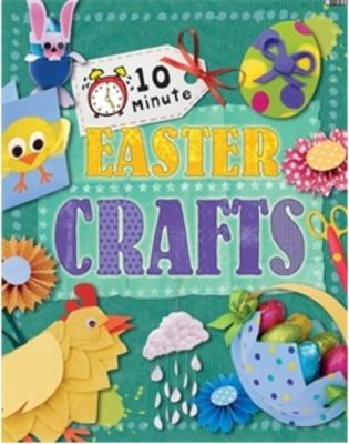Book cover for 10 minute Easter crafts