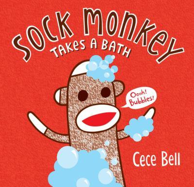 Sock Monkey takes a bath