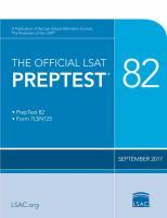 The official LSAT preptest  : 82