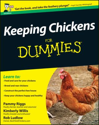 Book cover for Keeping chickens for Dummies