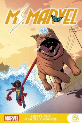Book cover for Ms. Marvel meets the Marvel universe
