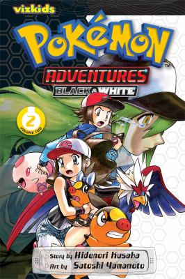 Book cover for Pokemon adventures. Black & White. Volume 2