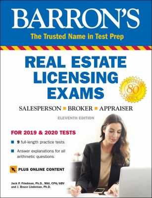 Barron's real estate licensing exams :  salesperson, broker, appraiser