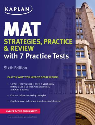 MAT, Strategies, practice, and review :  Strategies, Practice, and Review