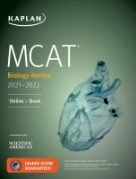 MCAT biology review 2021-2022